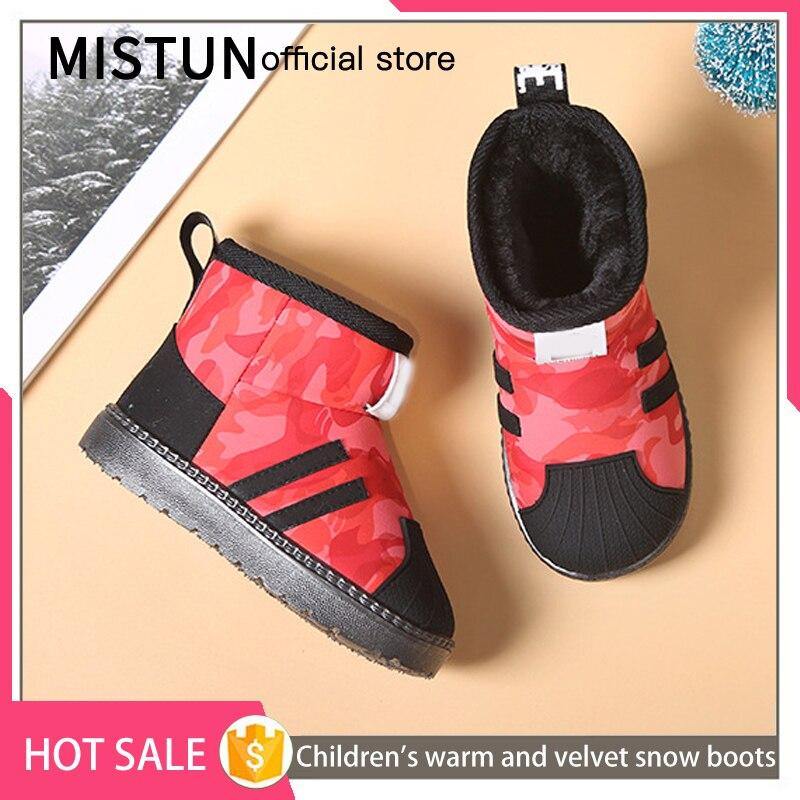 2021 winter new children's snow boots plus velvet non-slip boys waterproof cotton shoes girls short boots baby warm shoes 3