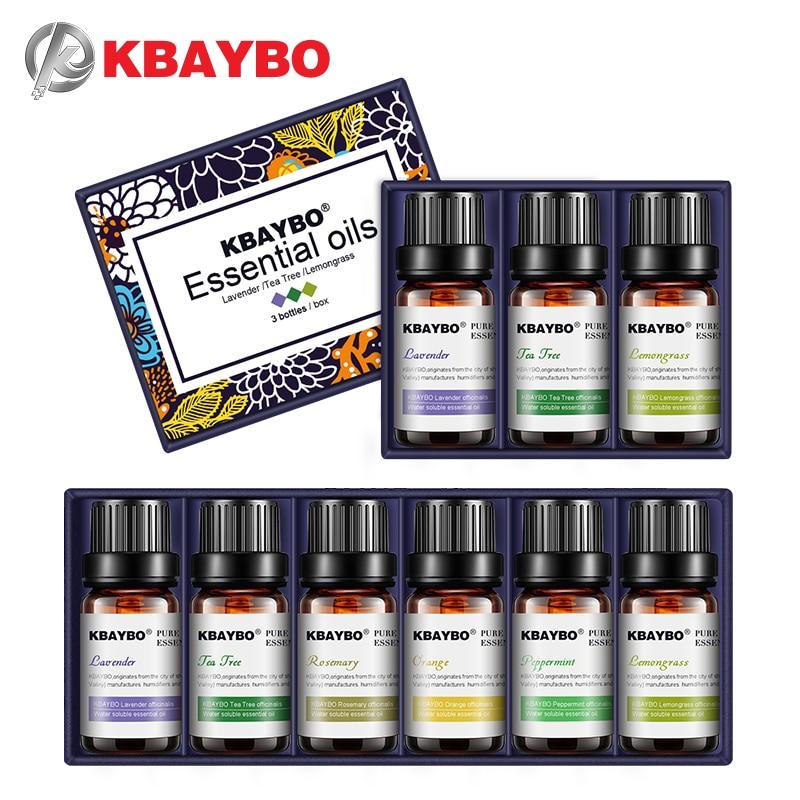 KBAYBO Essential Oils For Aromatherapy DiffusersLavender Tea Tree Lemongrass Tea Tree Rosemary Orange Oil
