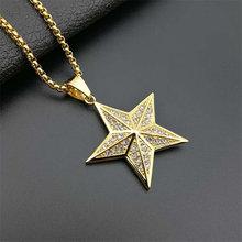 Ожерелье с трехмерной подвеской в виде пятиконечной звезды стиле