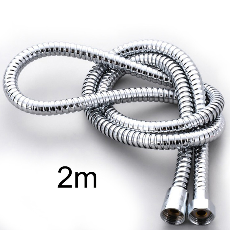 Shower Hose Pipes Fittings Bathroom Accessories Heat Cold Water Pipe For Bath Stainless Steel Head 2m 1.5m Shower Hoses