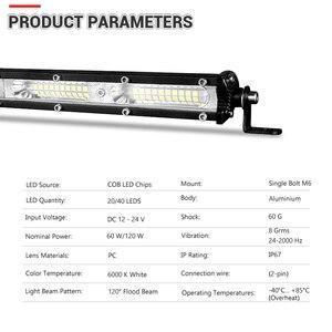 Image 3 - Светодиодный светильник DERI для внедорожников, внедорожников, квадроциклов, кроссоверов, 12 В, 24 В, 7 дюймов, 13 дюймов, 60 Вт, 120 Вт