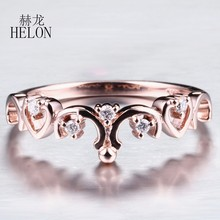 HELON Sterling Silver 925 VVS/DEF Color Moissanite Ring Test Positive Moissanite Band Diamond Wedding Jewelry Ring For Women(China)