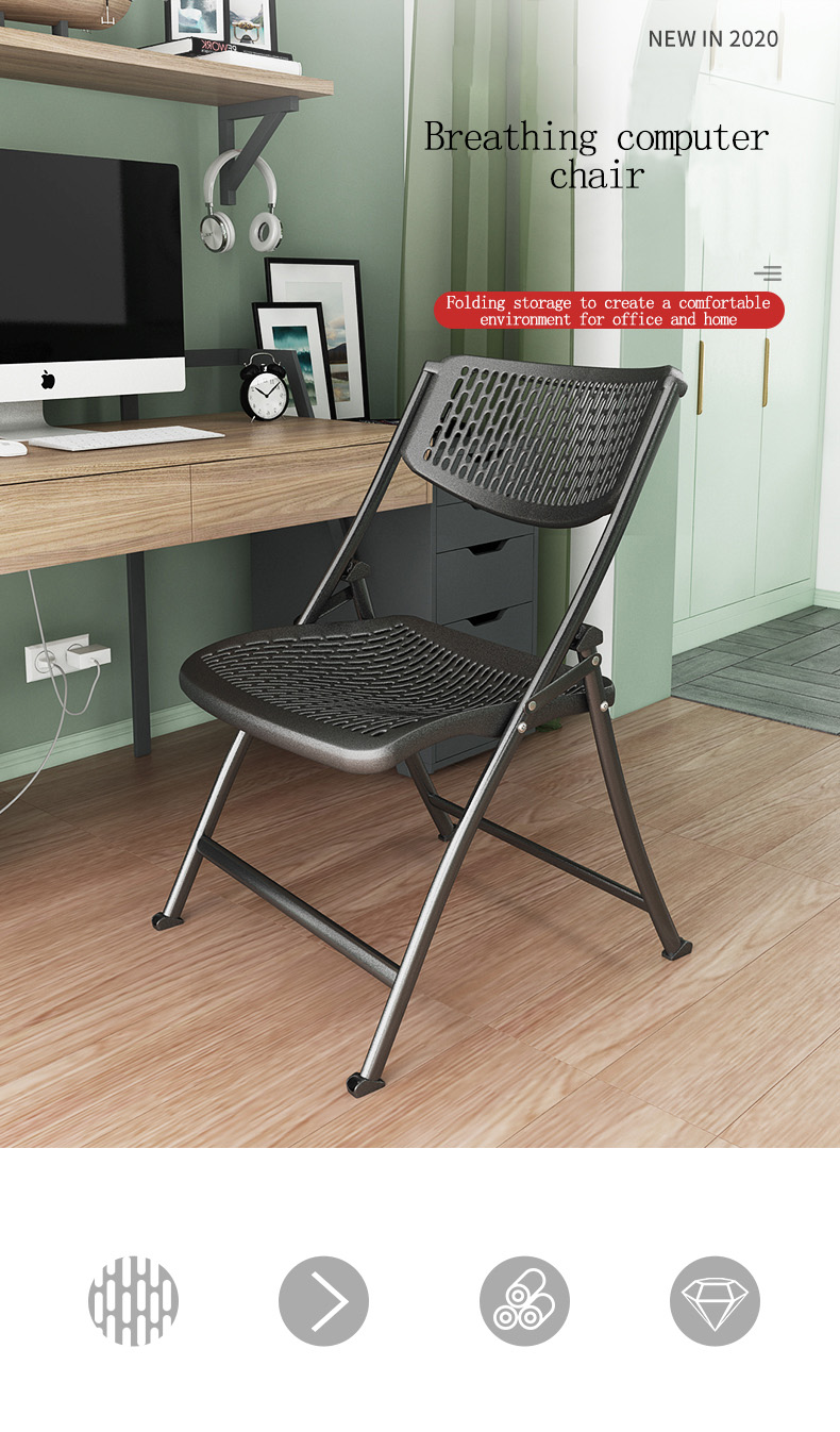 Home Computer Chair Back Folding Office Chair Comfortable Sedentary Student Dormitory Desk Stool Simple Conference Chair Office Chairs Aliexpress