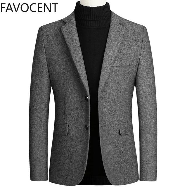 Шерстяной мужской пиджак из качественного материала фирменный Favocent 1