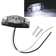 1 шт. Светодиодная подсветка 2 диода 1×2,5 зазор для поверхностного монтажа боковой маркер прицепа красный / желтый / белый для автомобильной укладки Горячий продавать