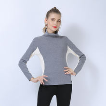 Вязаный свитер свободного размера Женская водолазка с длинным