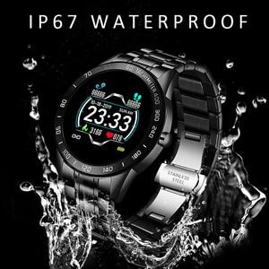 Image 3 - LIGE 2020 새로운 스마트 시계 남성 여성 스테인레스 스포츠 아이폰 심장 박동 모드 피트니스 트래커 smartwatch reloj inteligente Man