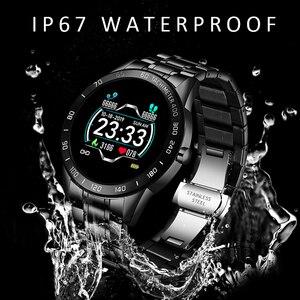 Image 3 - LIGE 2020 جديد ساعة ذكية الرجال النساء المقاوم للصدأ الرياضة آيفون وضع معدل ضربات القلب اللياقة البدنية المقتفي smartwatch reloj inteligente رجل