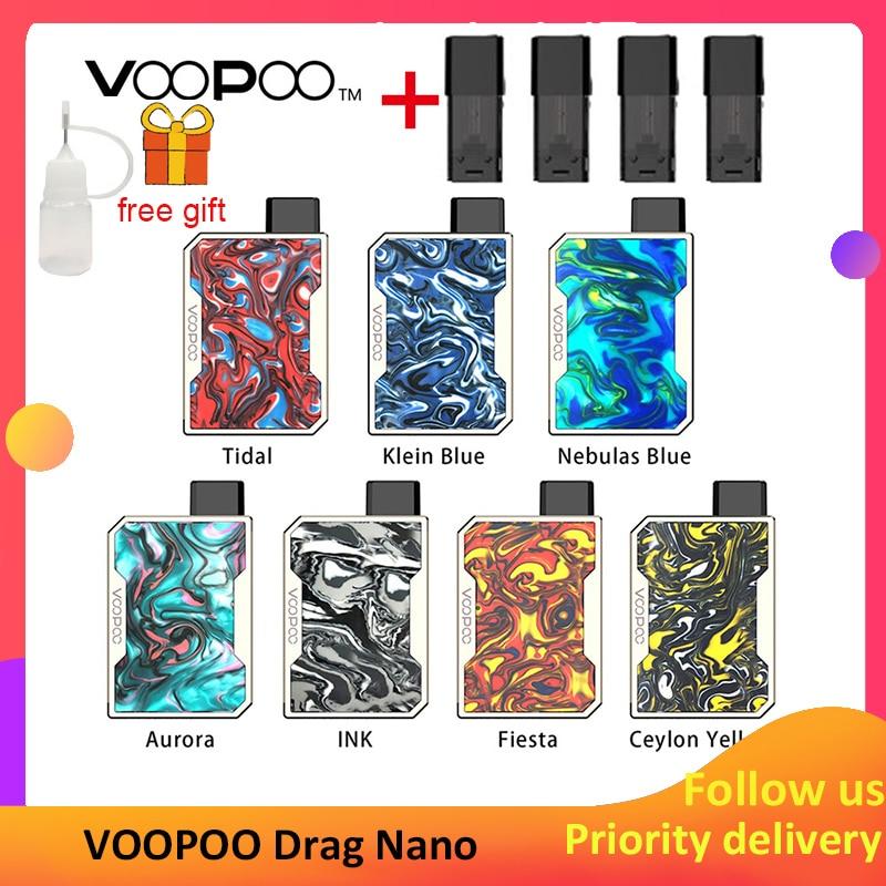 Vape Nano Kit VOOPOO DRAG Nano Pod 750mAh Battery & 1ml Pod Top GENE Chip Resin Panel VOOPOO Kit Vs Justfog Minifit