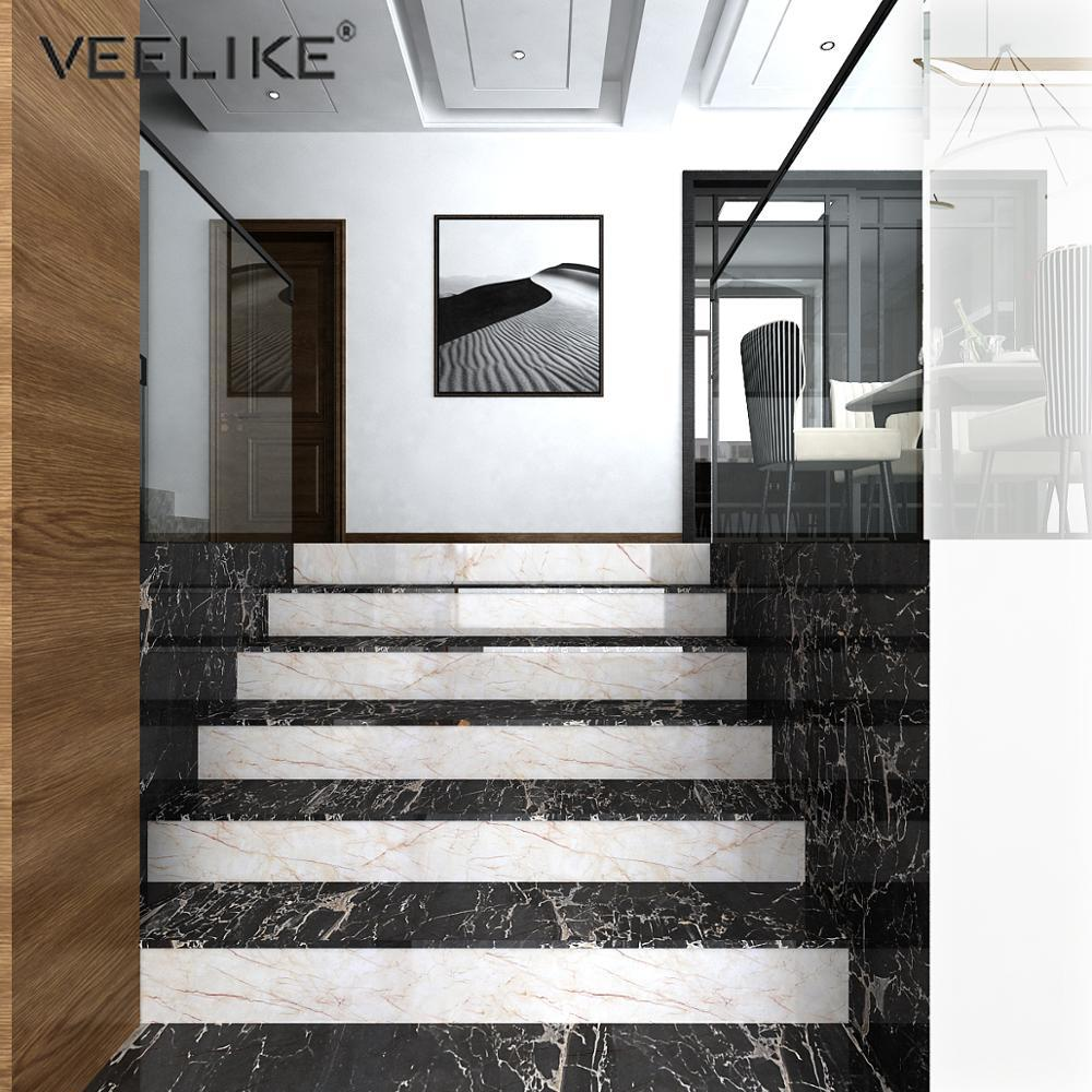 Marble Vinyl Film Self Adhesive Wallpaper For Bathroom Kitchen Cupboard Countertops Table Contact Paper Waterproof Wall Stickers