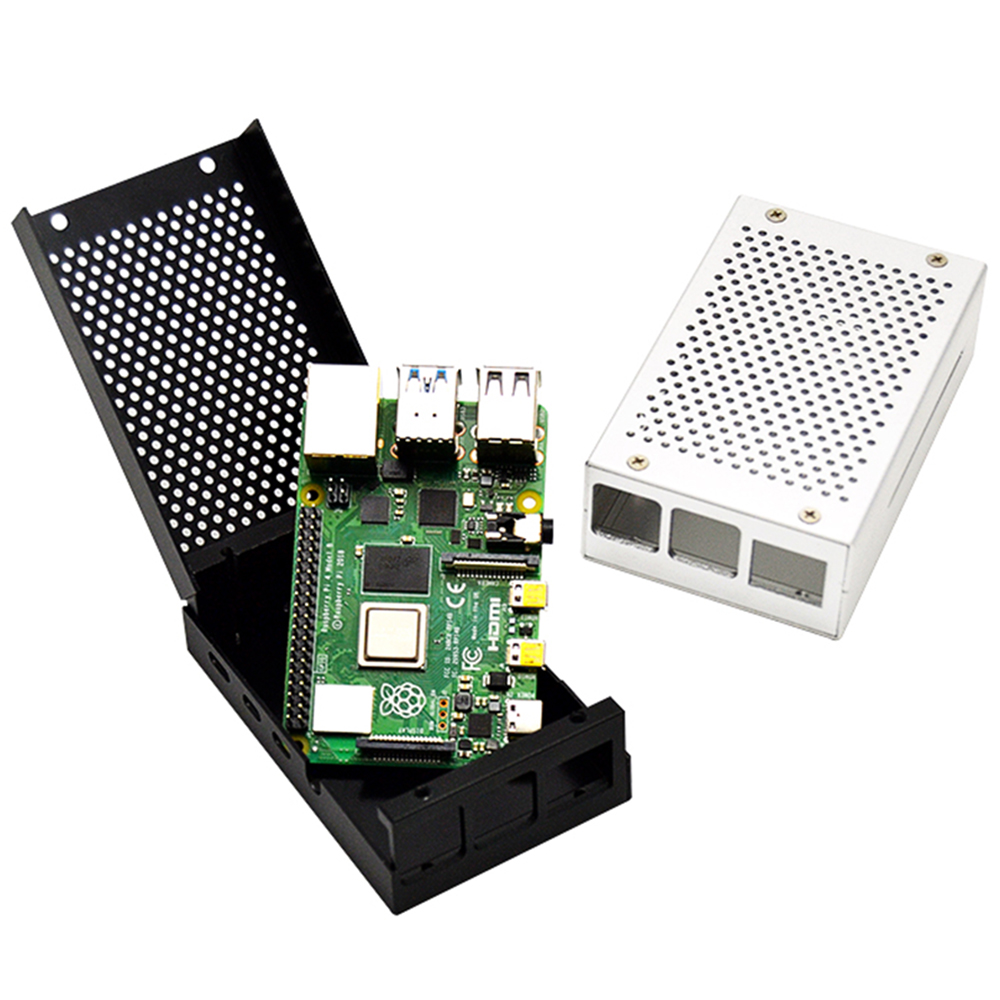 Raspberry Pi 4B Case Aluminum Alloy Metal And Aluminum Chassis Mesh Cooling