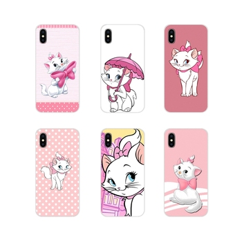 For Huawei G7 G8 P7 P8 P9 P10 P20 P30 Lite Mini Pro P Smart Plus 2017 2018 2019 Pink marie aristocats Printing cartoon TPU Cover image