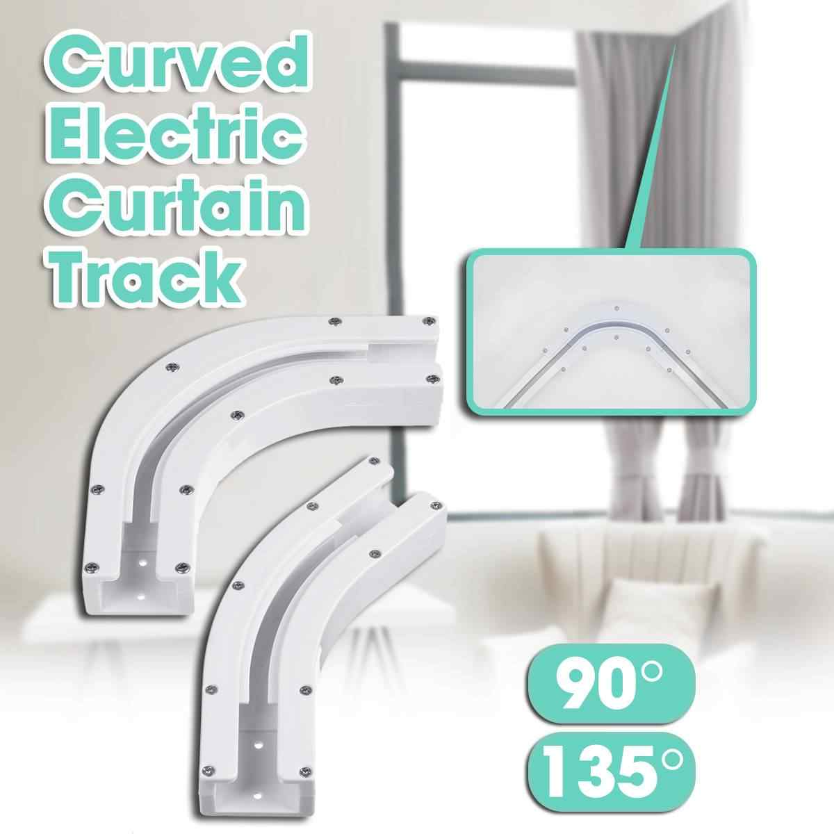 90 135 degree bend for u type and l type electric window curtain track curved rail connector track rail joint bracket connector