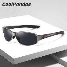 CoolPandas 2020 Neue Mode Sonnenbrillen Männer Polarisierte Platz Metall Rahmen Männlichen Sonnenbrille Fahren Angeln Brillen zonnebril heren
