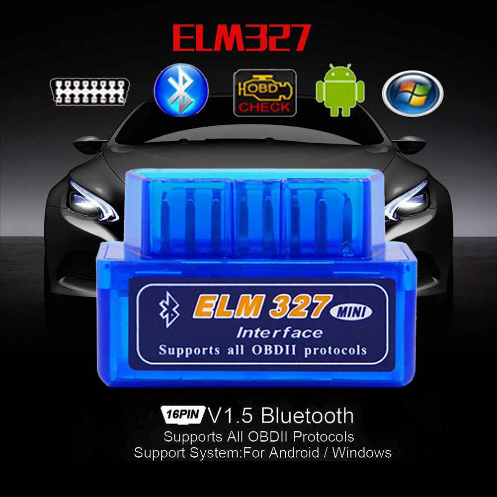 Elm327 Bluetooth OBDII V2.1OBD2 narzędzie diagnostyczne do samochodów czytnik kodów dla Renault Seat Fiat Ford Fiesta Fusion Focus Mondeo