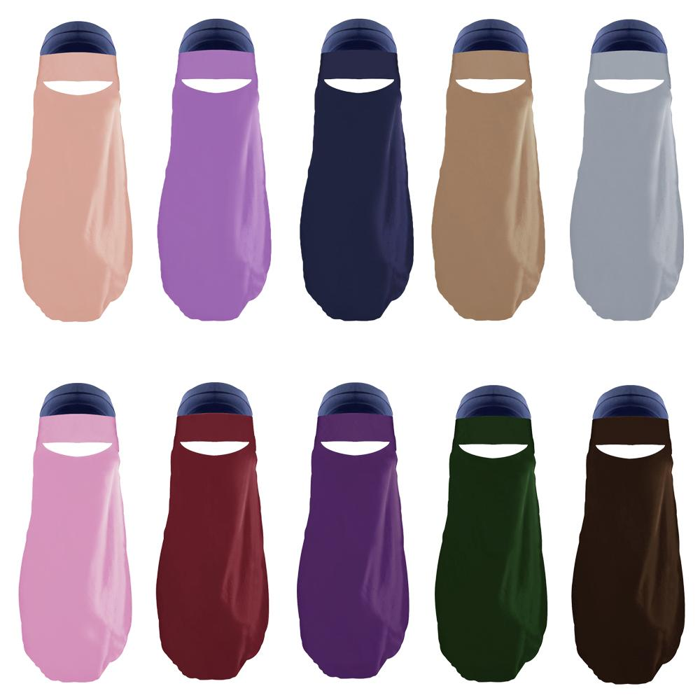 Modest Wear Hijab Single Layered One Piece Amira Muslim Women Niqab Veil Islamic Face Cover Burqa Arab Prayer Hijabs Scarf Shawl