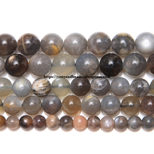 """Натуральный черный лунный камень круглые бусины 1"""" нить 6 8 10 мм выбрать размер для изготовления ювелирных изделий"""