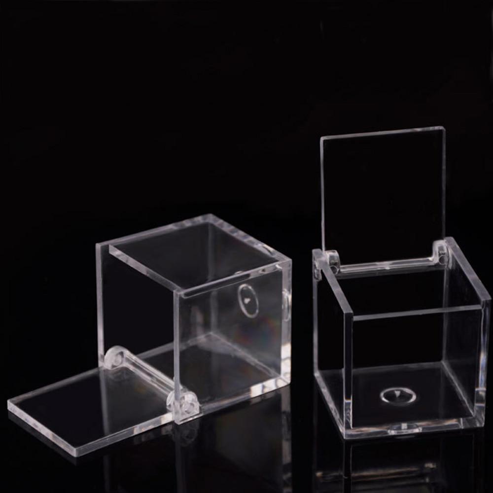 1 Piece 6X6cm Creative High Transparent Food Grade Square Flip Box Gift Box Small Storage Box