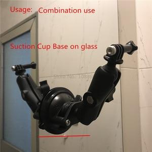Image 3 - Jadkinsta 8cm Diameter Base Twist Lock Car Window Ball Mount Suction Cup for Gopro Camera Smartphone for Phone 11 12