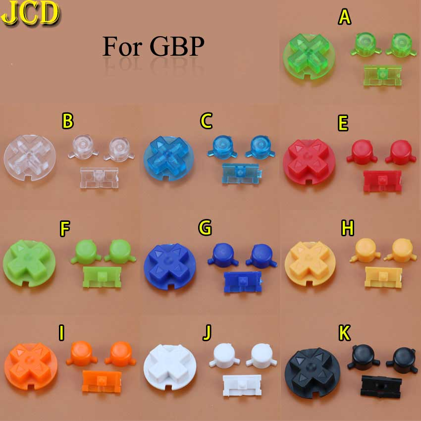 JCD 1set Colorful Buttons Set Replacement For Gameboy Pocket GBP For GBP Power On Off Button A B D Pads Buttons