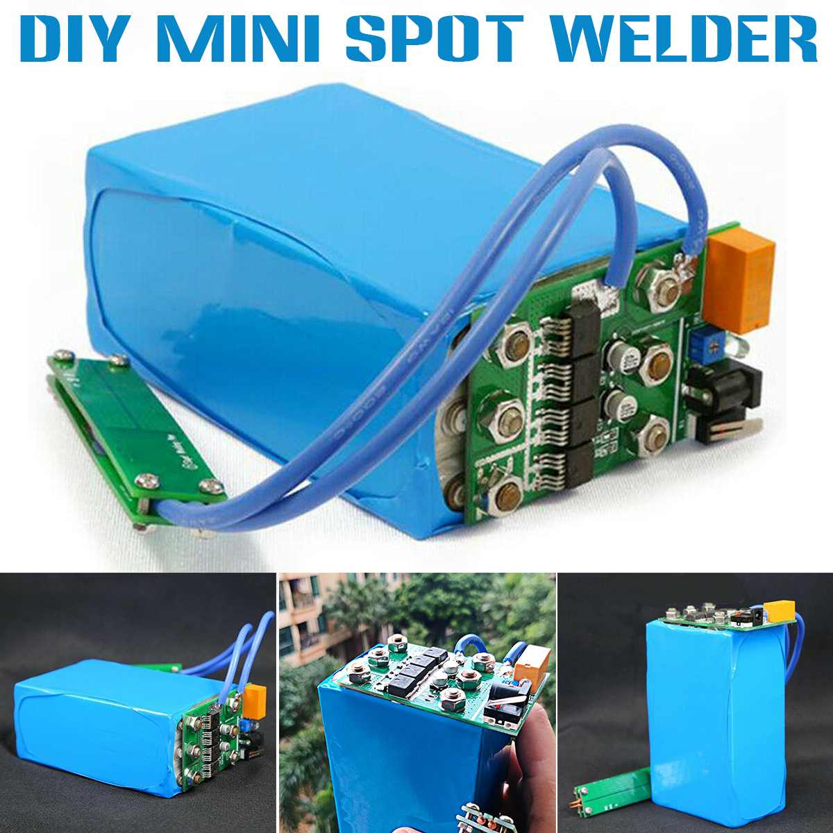 DIY Spot Welder Controller 150A Welding Kit Handheld Small Battery Spot Welder Pen Welding Machine For 18650 32650