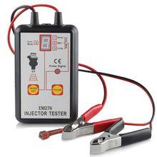 جهاز فحص حاقن وقود السيارة, مجموعة واحدة (1) جهاز اختبار حاقن وقود السيارة EM276 أداة فحص نظام الوقود حاقن محلل أدوات إصلاح السيارات مع 4 أوضاع نبض