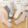 Зимние носки средней длины из кораллового флиса SVOKOR, теплые толстые бархатные носки, кавайный конфетный цвет, хлопковые носки для сна