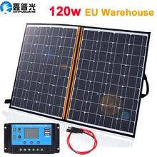 Foldable Solar Panel Kit 100w 120w 150w 12v Portable Solar Battery Charger Home System 5v USB Phone for RV Car Caravan Boat