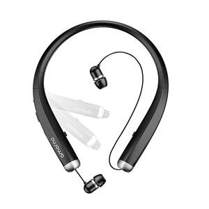 Image 1 - Amorno سماعة لاسلكية تعمل بالبلوتوث سماعات ستيريو HD الحديث شريط حول الرقبة سماعات رأس مضادة للعرق Fone De Ouvido الأذنية للهاتف