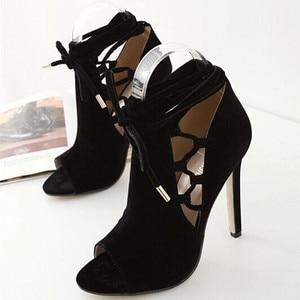 Image 3 - Mazefeng 2018 Sommer Hot Klassischen Frauen Pumpen Schuhe Rom Reifen Stil Damen Schuhe mit hohen absätzen Hohe Qualität Weibliche Schuhe offene spitze