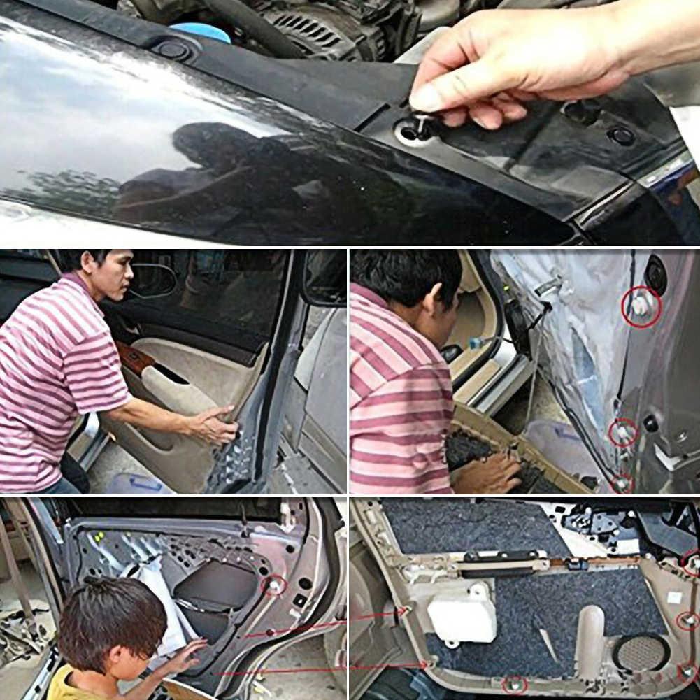 500 sztuk mieszane Auto samochód zaczep mocujący zderzak Fender wykończenia plastikowe nity na panel drzwi