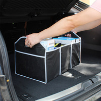 Auto Stamm Veranstalter Klapp Robust Robuste Auto Lagerung Box Auto Boot Veranstalter Einkaufen Ordentlich Faltbare Platzsparende Lagerung Box