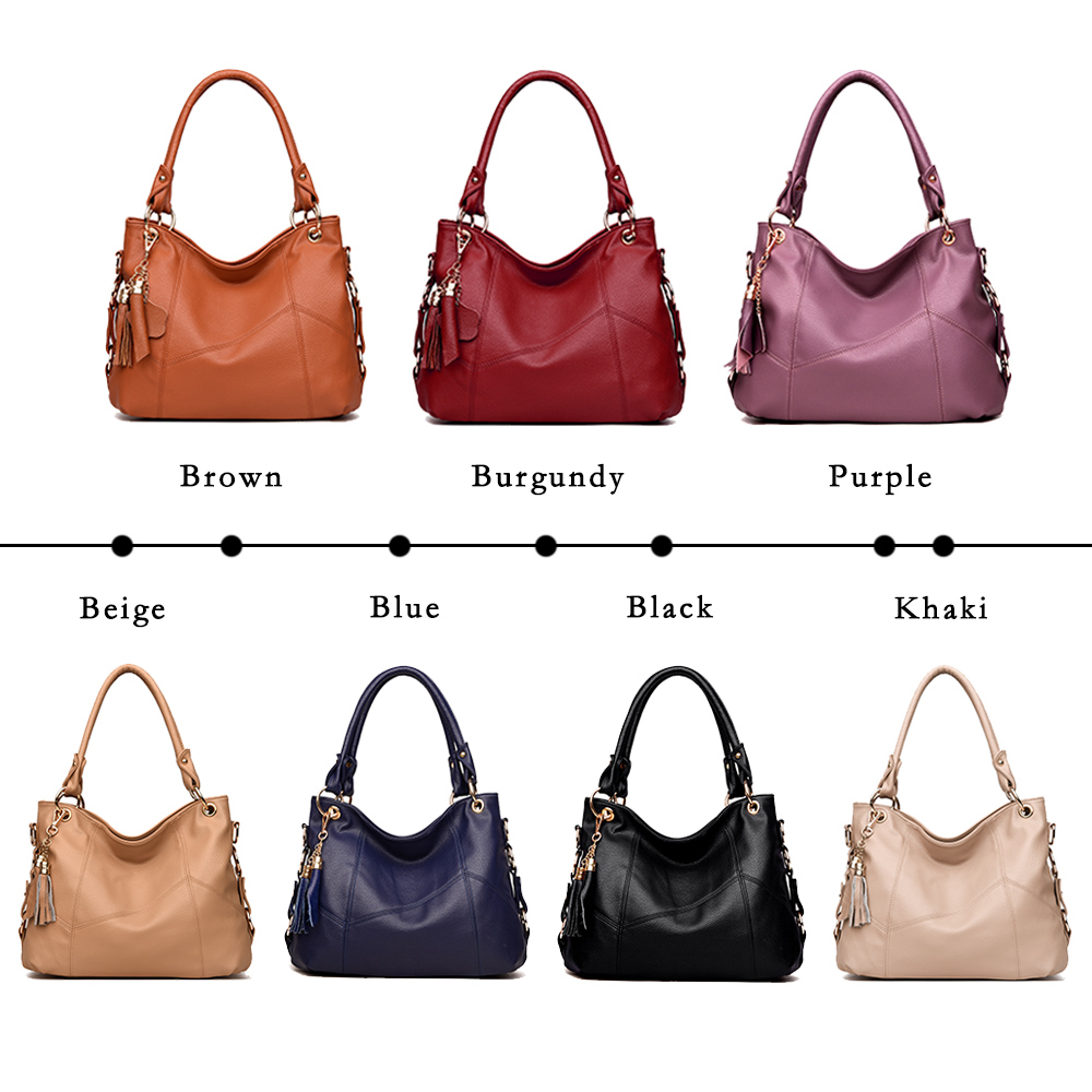 Image 2 - Lanzhixin Women Leather Handbags Women Messenger Bags Designer Crossbody Bag Women Tote Shoulder Bag Top handle Bags Vintage 518-in Shoulder Bags from Luggage & Bags