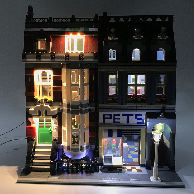 USB Lighting Parts Small Particle Building Block Accessories Toys for Pet Store 10218 (Only LED Light, No Block Kit) 1