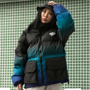 Image 5 - Aelfric Eden Hip Hop Gradient Removable Mens Hooded Parkas Casual Warm Padded Jacket Coats 2019 Harajuku Windbreaker Streetwear