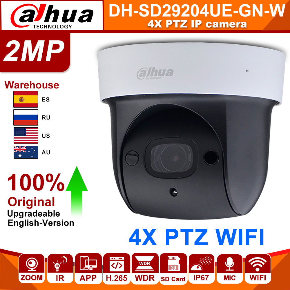 original <font><b>Dahua</b></font> SD29204T-GN-W <font><b>2MP</b></font> 1080P 4X Optical Zoom PTZ WiFi Network <font><b>IP</b></font> <font><b>Camera</b></font> CCTV 30M Night Vision Wireless WDR ICR DNR IVS image