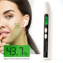 Portable Skin Moisture Tester Pen Digital LCD Screen Skin Moisture &Oil Content Analyzer For Forehead Cheek Eye Facial Hydrating