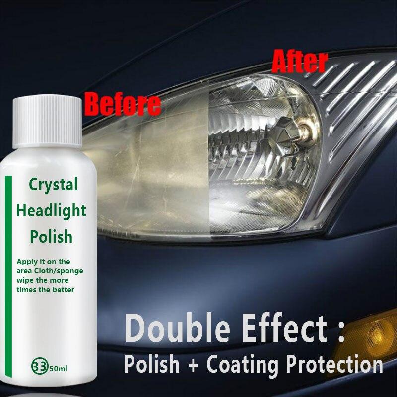 Car Headlight Repair Fluid Lamp Cover Kit Car Headlight Refurbishment Refurbished Scratch Repair Glitter Cleaning Restoration
