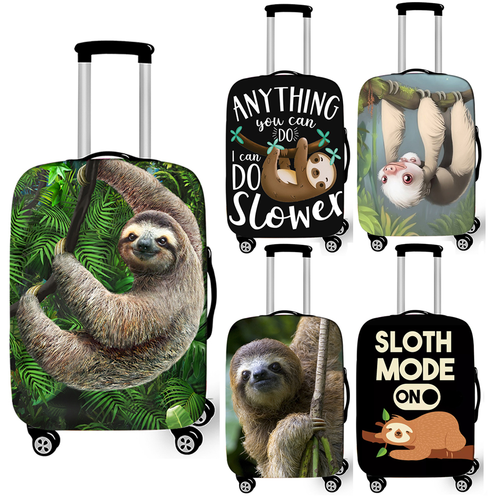 Funny Slow Sloth Print Luggage Cover For Travelling Anti-dust Suitcase Covers Elastic Trolley Case Protective Cover