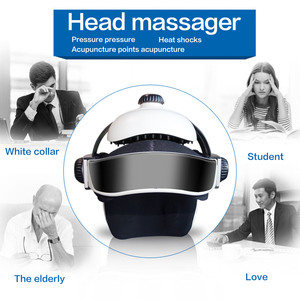 Image 2 - Electric Head Massager Brain Massage Helmet With Music Adjustable Head Size Instrument Household Head Massage Relaxation Device