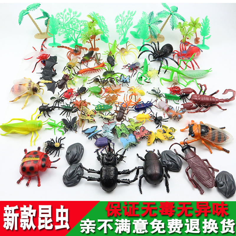 Early Childhood Education Cognitive Insect Toy Simulation Plastic Marine Small Animal Model Suit Spider Butterfly Ladybug