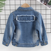 Kids Baby Boys Denim Jacket 2020 Autumn Denim Jackets For Boys Outerwear Coats For Girls Jeans Jacket Children Clothing 5 6 Year cheap Fashion Polyester COTTON Patchwork REGULAR Turn-down Collar Outerwear Coats Full Fits true to size take your normal size