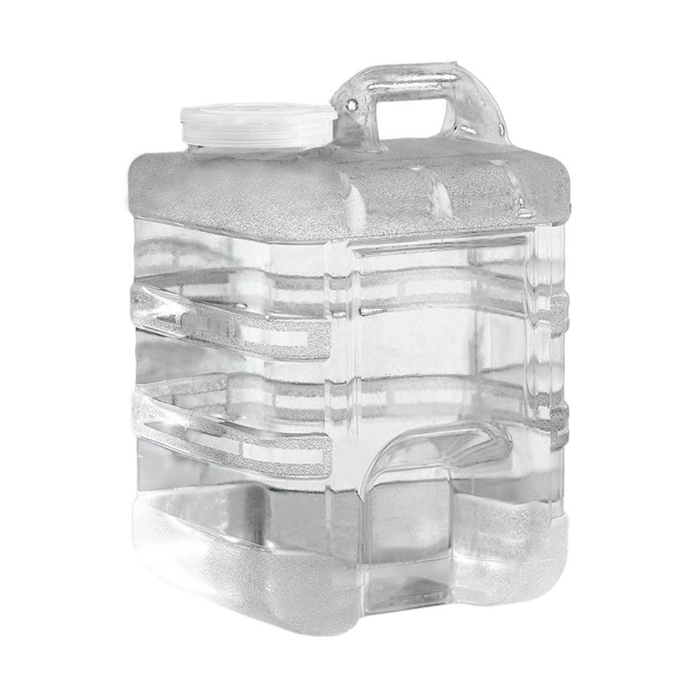 Contenedor de agua para coche de grado alimenticio, 5L/7,5l/10L/15L/20L, barril de almacenamiento de agua portátil, Picnic, Camping, tanque de agua con asa