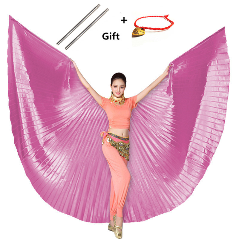 2019 Belly Dance Isis Wings Belly Dance Accessory Bollywood Oriental Egypt Egyptian Wings Costume With Sticks Adult Women Child