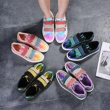 Женская модная яркая белая блестящая обувь; Женские роскошные