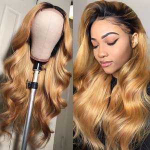 Wigs for Women Brazilian Body-Wave Human Hairlace Preplucked-Hairline Blonde Lace-Front