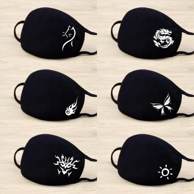 PM2.5 Fashion Masks Anti-dust Cotton Dustproof Mouth Face Mask Anime Cartoon Kpop Lucky Women Men Muffle Face Mouth Masks 1