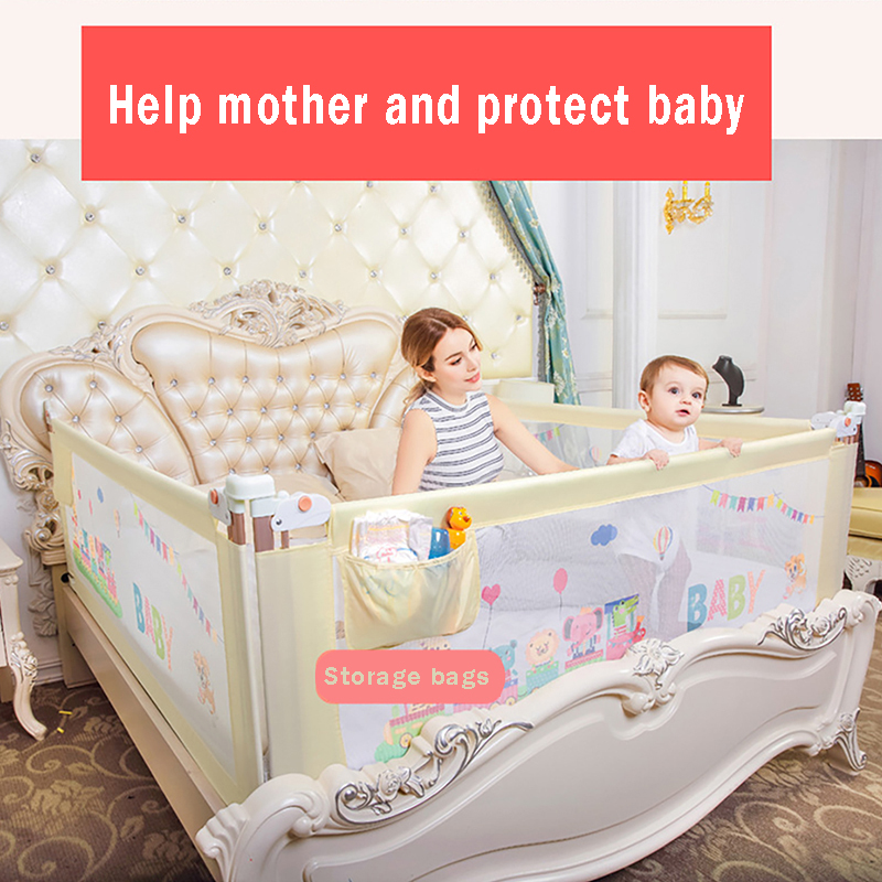 Baby Bed Fence Safety Gate Babe Barrier For Beds Crib Rails Security Fencing Baby Playpen Activity Center Child Bed Guard Rail