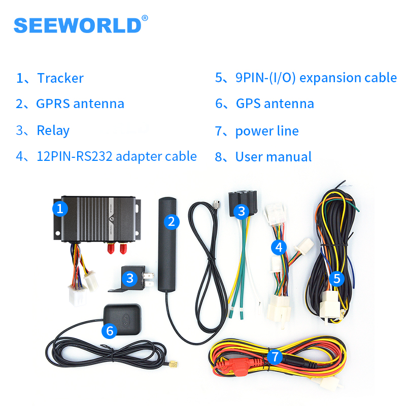Seeworld Smart real time in Android apps realtime locating tk105 gsm gps vehicle car tracker with camera image