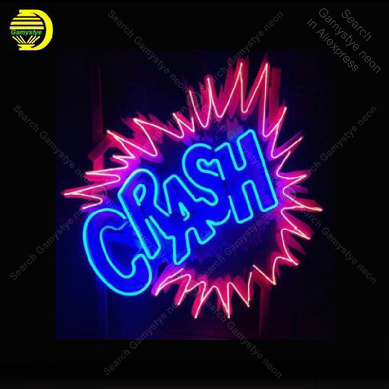 Neon Sign for Crash Neon Bulb handcraft Beer bar signglass real Glass neon signboard Decorate Hotel restaurant great advertise image